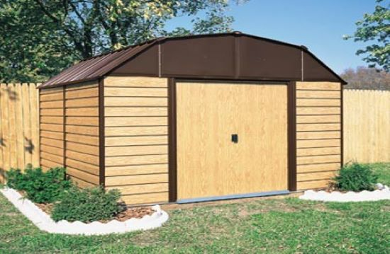 Arrow 10x14 Woodhaven Storage Shed WH1014-Perfect for storage solution for your tools, grill, lawn mower, patio furniture and more.