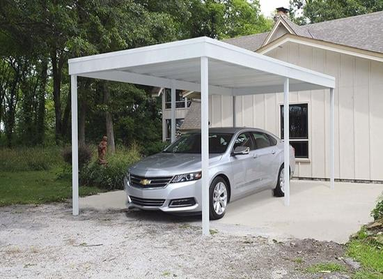 Arrow 10x20 Free Standing Steel Carport Kit (CP1020) - Protects your vehicle from the sun and other elements.
