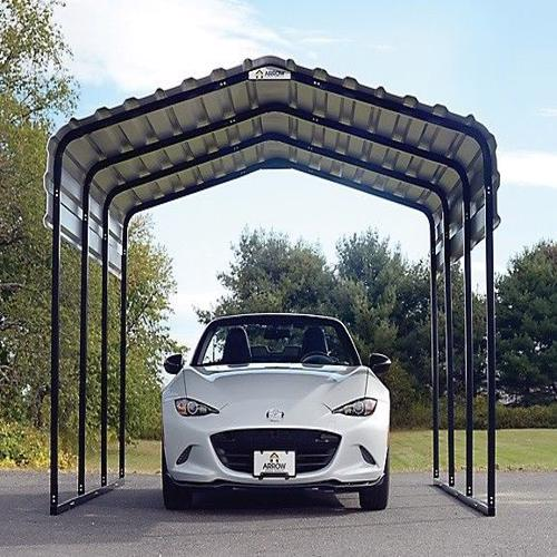 Arrow 10x20x7 Steel Carport Kit (CPH102007) - Provides protection for your vehicle against the sun.