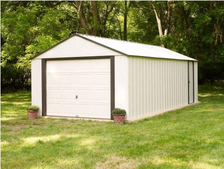 Arrow 12x10 Vinyl Murryhill Steel Garage Kit VT1210 - add storage space or workshop area
