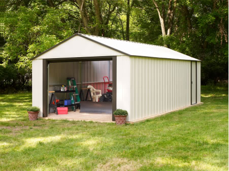 Arrow 12x24 Vinyl Murryhill Steel Garage Kit VT1224-backyard storage or workshop