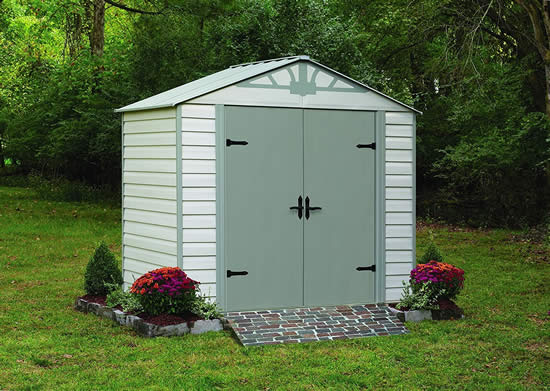 Arrow Admiral 8x5 Vinyl Coated Steel Shed Kit HDVAS85-perfect storage for your backyard.