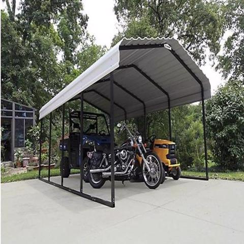 Arrow 12x20x7 Steel Carport Kit (CPH122007) Ideal storage for your motorcyle, tractors and ATV's.