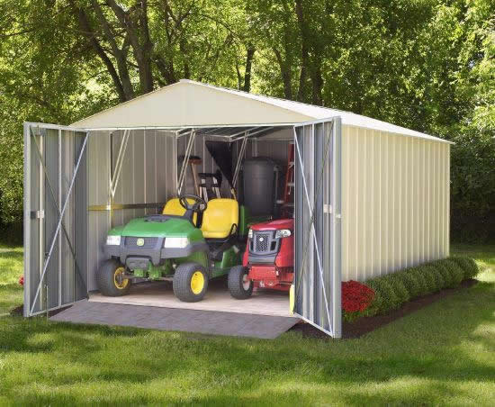Arrow Commander 10x10 Storage Building Kit (CHD1010) - Perfect storage for your equipment.
