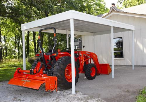 Arrow 10x10 Steel Carport Kit (CP1010) Ideal protection for your tractors.