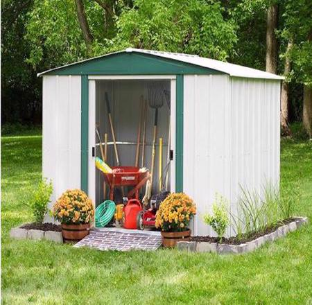 Arrow Hamlet 10x8 Storage Shed Kit (HM108) Provides storage for your lawn and garden supplies.