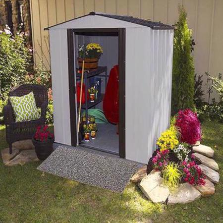 Arrow Newburgh 6x5 Storage Shed Kit (NW65) Ideal storage for your lawn and garden equipment.