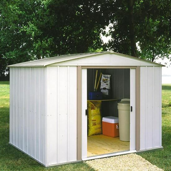 Salem 10x8 Arrow Metal Storage Shed (SA108) This shed will help you organize your lawn and garden equipments.