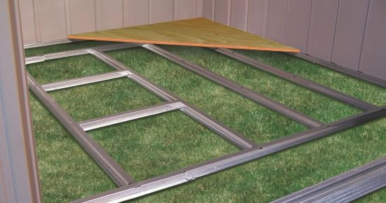 Arrow Shed Floor Frame Kit for 10x12 and 10x14 FB1014 creates a solid base for your Arrow shed floor