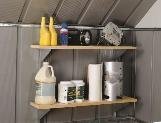 Arrow Shed Shelving System Kit SS404 - adds storage capacity to most Arrow sheds and garages