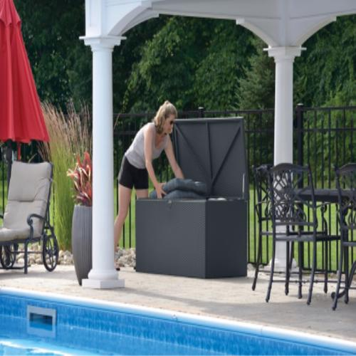 Arrow Spacemaker Deck Box Anthracite (DBBWAN) Ideal storage for your pool toys and accessories.