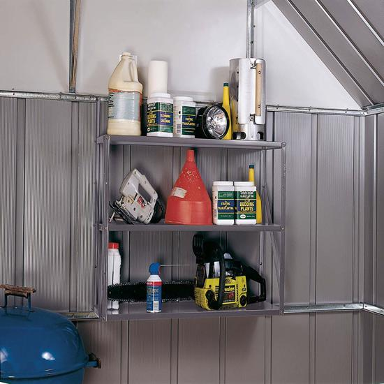 Arrow Shed Three Tier Shelf Kit (SS900) - Adds storage space to any shed, garage or work area.
