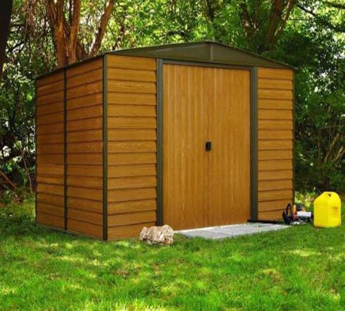 Arrow Woodridge 10x12 Steel Shed Kit (WR1012) Excellent addition to your patio or backyard.
