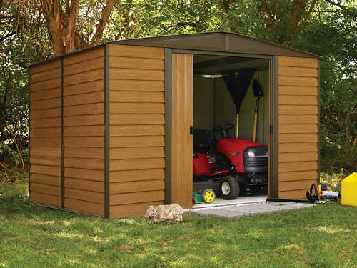 Arrow Woodridge 10x8 Metal Storage Shed Kit (WR108) Perfect storage solution for your garden tools and equipments.