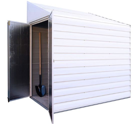 Arrow Yardsaver 4x10 Metal Side Shed Kit (YS410) - Perfect storage for your equipment.