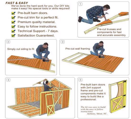 Best Barns Belmont 12x16 Wood Storage Shed Kit (belmont_1216) DIY Assembly No Skills Required