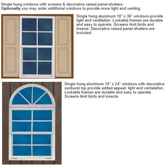 Best Barns Belmont 12x24 Wood Storage Shed Kit (belmont_1224) Optional Windows