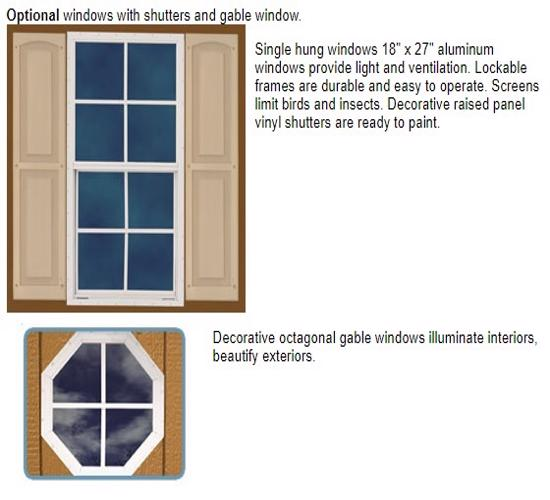 Best Barns Cambridge 10x16 Wood Storage Shed Kit (cambridge_1016) Optional Windows