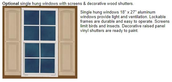 Best Barns Danbury 8x12 Wood Storage Shed Kit - All Pre-Cut (danbury_0812) Optional Windows
