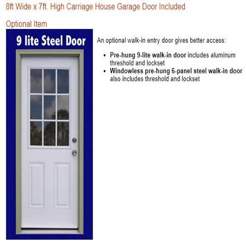 Best Barns Dover 12x16 Wood Garage Kit - All-Precut (dover_1216) Optional Walk-In Side Entry Door