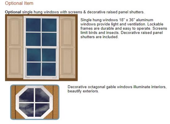 Best Barns Dover 12x20 Wood Garage Kit - All-Precut (dover_1220) Optional Windows