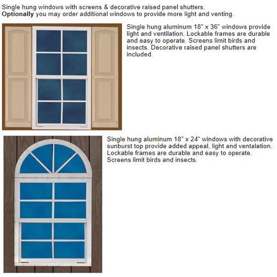 Best Barns Glenwood 12x16 Wood Storage Garage Kit (glenwood_1216) Optional Windows
