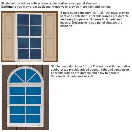 Best Barns Glenwood 12x20 Wood Storage Garage Kit (glenwood_1220) Optional Windows