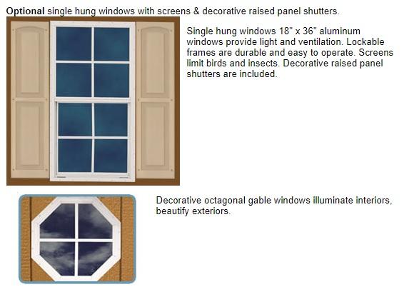 Best Barns Greenbriar 12x16 Garage Shed - All-Precut (greenbriar_1216) Optional Windows