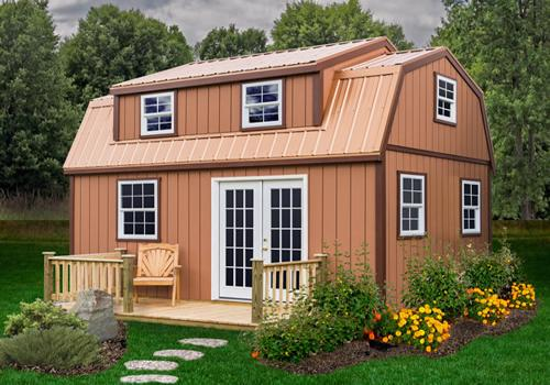Best Barns Lakewood 12x18 Wood Storage Shed Kit (lakewood_1218) Exterior Image