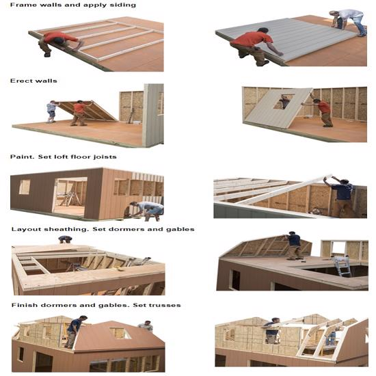 Best Barns Lakewood 12x18 Wood Storage Shed Kit (lakewood_1218) DIY Assembly No Skills Required