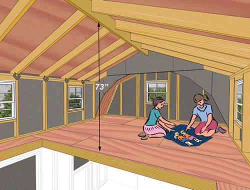 Best Barns Lakewood 12x18 Wood Storage Shed Kit (lakewood_1218) Second Floor Loft