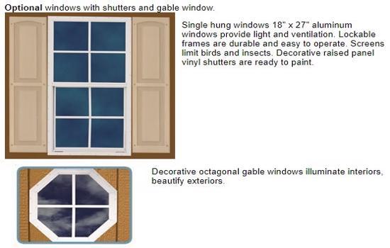 Best Barns Mansfield 12x12 Wood Storage Shed Kit (mansfield_1212) Optional Windows
