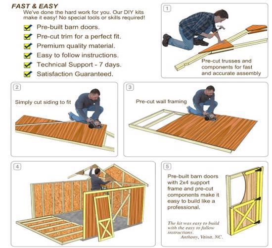 Best Barns North Dakota 12x16 Wood Storage Shed Kit (northdakota_1216) DIY Assembly No Skills Required