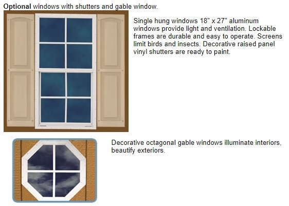 Best Barns Northwood 10x10 Wood Storage Shed Kit - All Pre-Cut (NW1010) Optional Windows
