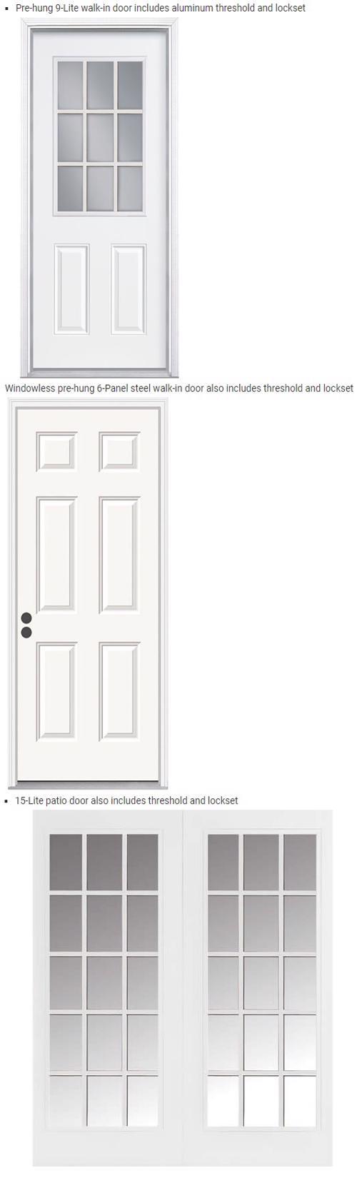Best Barns Richmond 16x20 Wood Storage Shed Kit (richmond1620) Optional Walk-In Entry Door