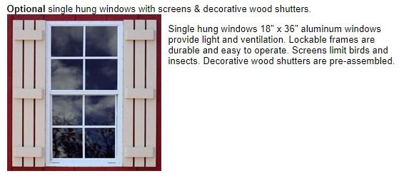 Best Barns Roanoke 16x24 Wood Storage Shed Kit (roanoke1624) Optional Windows