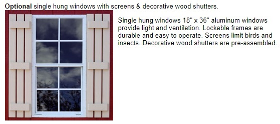 Best Barns Roanoke 16x32 Wood Storage Shed Kit (roanoke1632) Optional Windows
