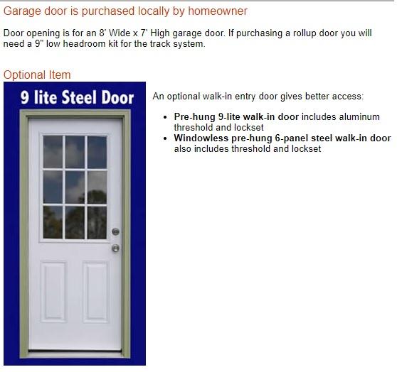 Best Barns Sierra 12x16 Wood Storage Garage Shed Kit - ALL Pre-Cut (sierra_1216) Optional Walk-In Entry Door