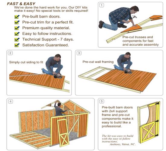 Best Barns South Dakota 12x12 Vinyl Siding Wood Shed Kit (southdakota_1212) DIY Assembly No Skills Required