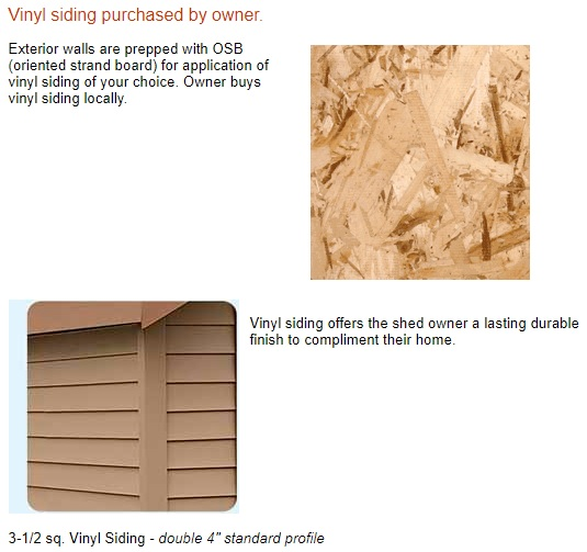 Best Barns South Dakota 12x12 Vinyl Siding Wood Shed Kit (southdakota_1212) Siding Material