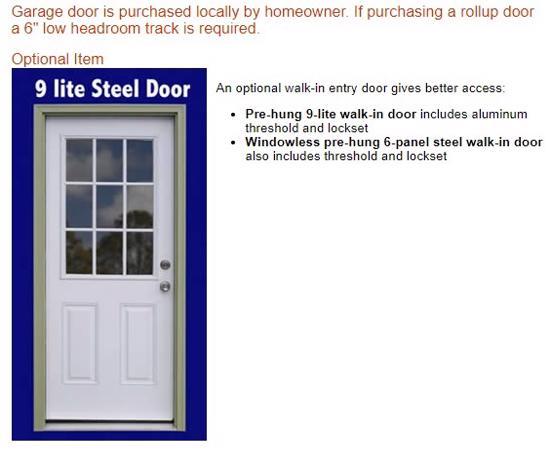 Best Barns Tahoe 12x20 Wood Storage Garage Shed Kit (tahoe_1220) Optional Walk-In Entry Door