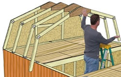 Best Barns Tahoe 12x20 Wood Storage Garage Shed Kit (tahoe_1220) DIY Assembly Step Two