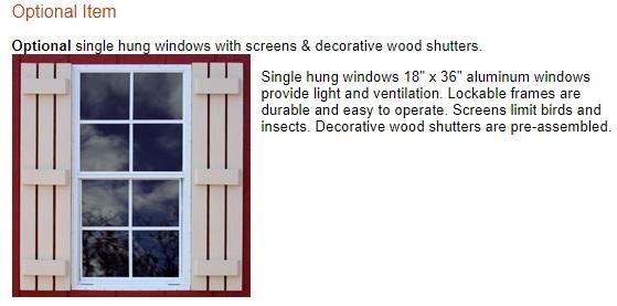 Best Barns Tahoe 12x20 Wood Storage Garage Shed Kit (tahoe_1220) Optional Windows
