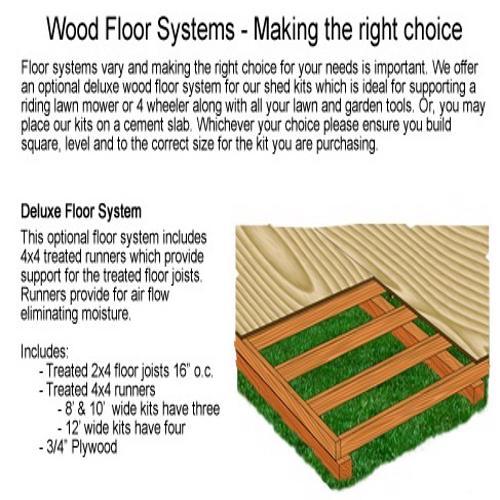 Best Barns Woodville 10x16 Wood Storage Shed Kit - All Pre-Cut (woodvile_1016) Optional Wood Floor
