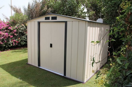 Duramax 10x10 Eco Metal Storage Shed Kit (61235) This shed is a great addition to any backyard setting.