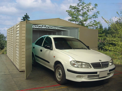 DuraMax 10x15 Vinyl Storage Garage Kit w/ Foundation (01016) Provides storage and protection to your car.