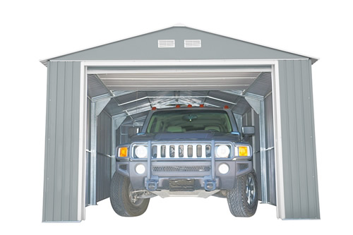 DuraMax 12x20 Imperial Steel Storage Garage Kit - Light Gray (50952) made with durable materials