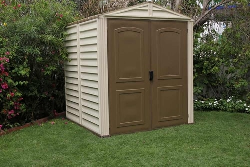 DuraMax 6x6 StoreMate Vinyl Shed Kit w/ Foundation (30411) Great addition to any backyard setting.