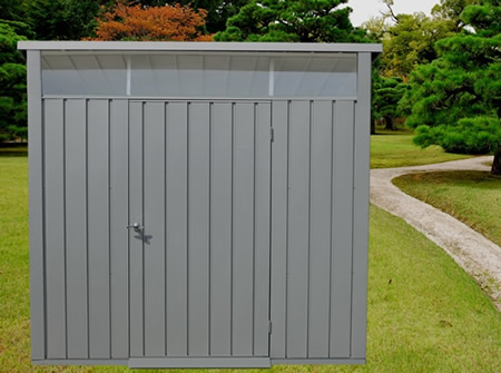 DuraMax 8x6 Palladium Metal Storage Shed Kit - Light Gray (41372) This shed will bring beauty to any backyard setting.