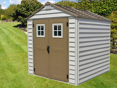DuraMax 7x7 StoreMax Vinyl Shed w/ Foundation Framing Kit (30315) - Provides you the storage capacity that you need for your belongings